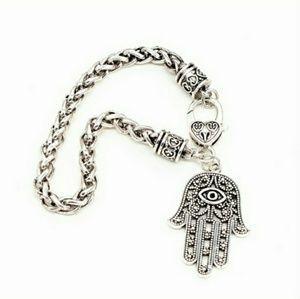 Sterling Silver Plated Charm Bracelet